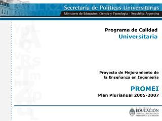 Programa de Calidad Universitaria