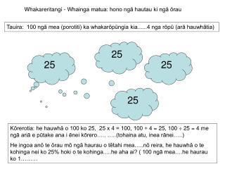 Whakareritangi - Whainga matua: hono ngā hautau ki ngā ōrau