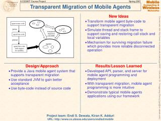 Transparent Migration of Mobile Agents