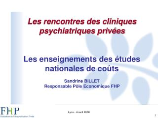 Les rencontres des cliniques psychiatriques privées