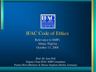 IFAC Code of Ethics