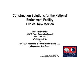 Construction Solutions - H-Y Tech - Biedermann