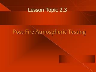 Lesson Topic 2.3