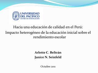Hacia una educación de calidad en el Perú: