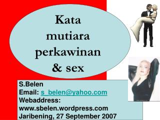Kata mutiara perkawinan & sex