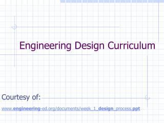 Engineering Design Curriculum