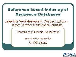 Reference-based Indexing of Sequence Databases