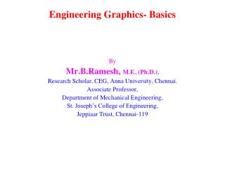 Engineering Graphics- Basics