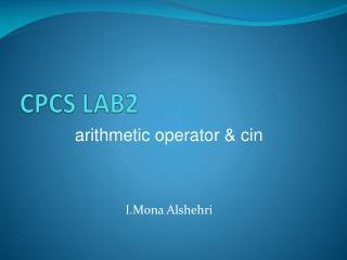 CPCS LAB2