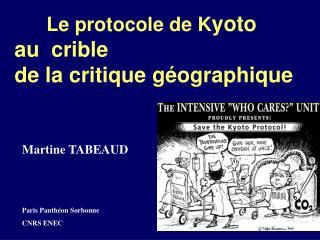 Le protocole de K yoto au  crible de la critique géographique