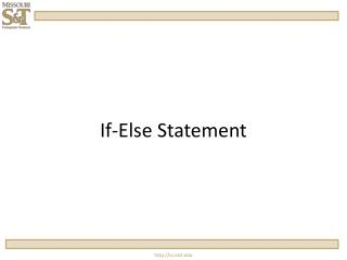 If-Else Statement