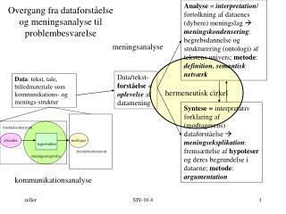 Overgang fra dataforst else og meningsanalyse til problembesvarelse