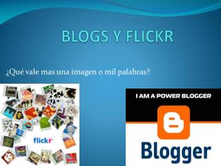 BLOGS Y FLICKR