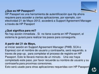 ¿Que es HP Passport?