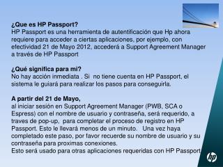 �Que es HP Passport?