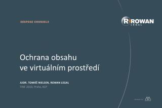 Ochrana obsahu  ve virtuálním prostředí
