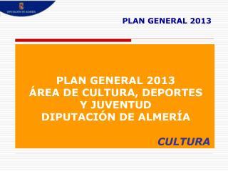 PLAN GENERAL 2013
