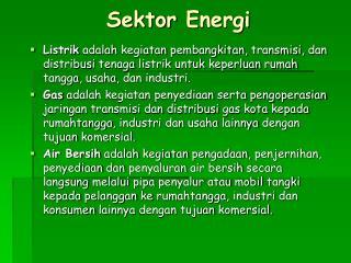Sektor Energi
