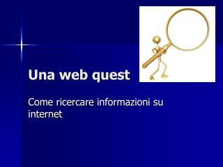 Una web quest
