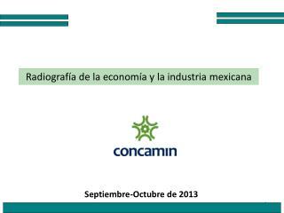 Radiografía de la economía y la industria mexicana