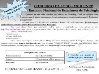 CONCURSO DA LOGO - XXIII ENEP Encontro Nacional de Estudantes de Psicologia
