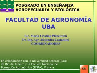 POSGRADO EN ENSEÑANZA AGROPECUARIA Y BIOLÓGICA