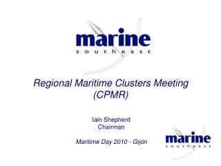 Regional Maritime Clusters Meeting (CPMR)