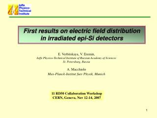 First results on electric field distribution in irradiated epi-Si detectors