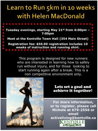 Learn to Run 5km in 10 weeks  with Helen MacDonald