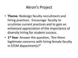 Akron's Project