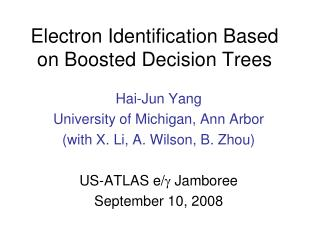 Electron Identification Based on Boosted Decision Trees