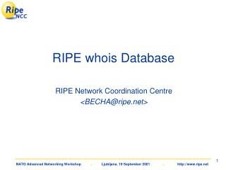 RIPE whois Database