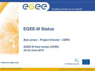 EGEE-III Status