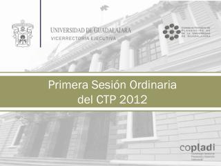 Primera Sesión Ordinaria del CTP 2012