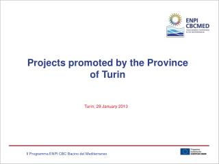 Projects promoted by the Province of Turin