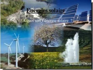 Energies solaire