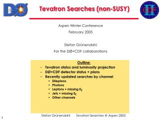 Tevatron Searches (non-SUSY)