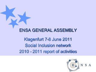 ENSA GENERAL ASSEMBLY