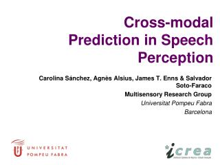 Cross-modal  Prediction in Speech Perception