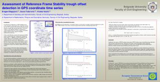Assessment of Reference Frame Stability trough offset detection in GPS coordinate time series