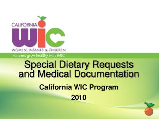 Special Dietary Requests and Medical Documentation