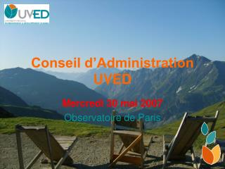 Conseil d'Administration UVED