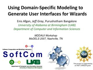 Using Domain-Specific Modeling to  Generate User Interfaces for Wizards