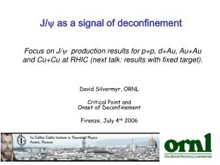J/ y  as a signal of deconfinement