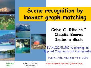 Scene recognition by                inexact graph matching