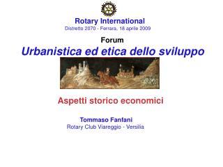 Forum Urbanistica ed etica dello sviluppo