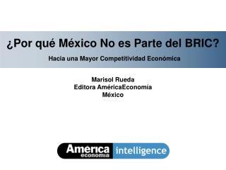 ¿Por qué México No es Parte del BRIC? Hacia una Mayor Competitividad Económica