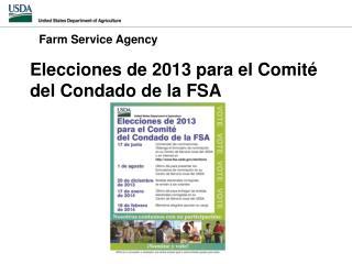 Elecciones  de 2013  para  el  Comité  del  Condado  de la FSA