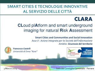 SMART CITIES E TECNOLOGIE INNOVATIVE  AL SERVIZIO DELLE CITTÀ