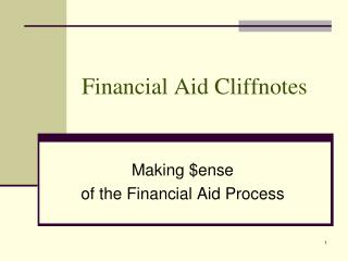 Financial Aid Cliffnotes